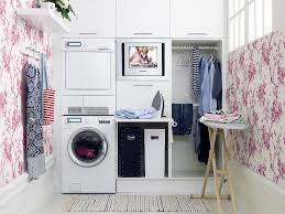 home design laundry room ideas stacked washer dryer intended for