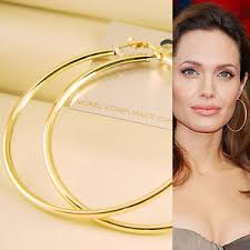 large gold hoop earrings 60mm gold plated large hoop circle