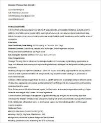 Resumes Online Examples Inspiring Data Scientist Resume Example 54 In Create A Resume