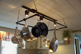 kitchen pot racks with lights the way to install a lighted pot rack cookwithalocal home and
