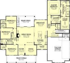 farmhouse style house plan 4 beds 2 50 baths 2686 sqft plans with