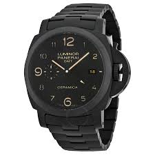 ceramic bracelet watches images Panerai luminor 1950 tuttonero gmt black dial men 39 s watch pam00438 jpg