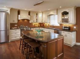 kitchen modern large refrigerator and white cabinets classic