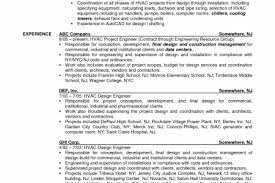 Sample Mechanical Engineer Resume by Hvac Engineer Resume Sample Reentrycorps