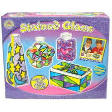 buy stained glass craft playset for kids online at toy universe