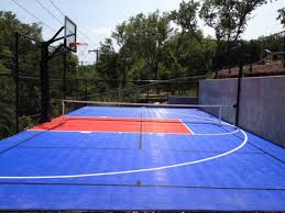 Backyard Tennis Courts Outdoor Basketball Court Flooring Ultrabasesystems