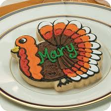 thanksgiving place cards turkey cookies cookies by design