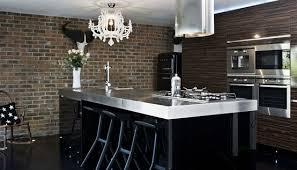 cuisine avec mur en idées de conception des murs de cuisine en briques