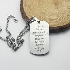titanium dog tag necklace images Custom letter dog tag necklace together forever declaration of jpg