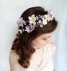 hair wreath lavender flower hair wreath purple wedding headpiece bridal hair
