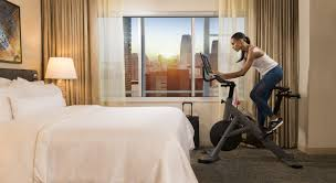 hilton u0027s new design brings the gym to the guest room u2013 skift