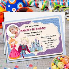 Superhero Invitation Card 10 Personalised Princess U0026 Super Hero S Birthday Party Photo