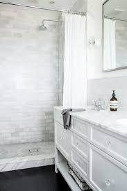 Beveled Subway Tile Shower by Best 25 White Subway Tile Shower Ideas On Pinterest White