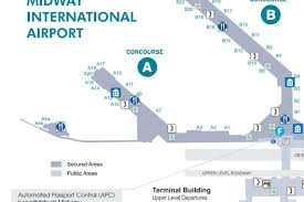 San Diego International Airport Map by Where To Eat At Chicago Midway International Airport Mdw Eater
