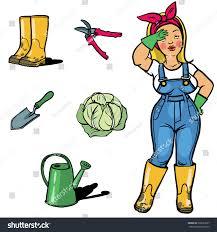 vegetable gardener cartoon character sign ang stock vector