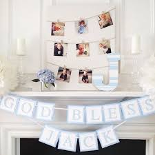 Centerpieces For Boy Baptism by Best 25 Baptism Decorations Ideas On Pinterest