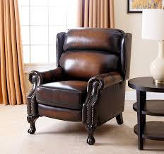 Leather Club Chairs For Sale Amazon Com Abbyson Veda Hand Rubbed Top Grain Leather Pushback