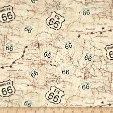 Route 66 Home Decor Designed For Timeless Treasures This Cotton Print Fabric Is