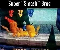 Smash Bros Memes - pikachu thicc af meme by xxblitzxx memedroid