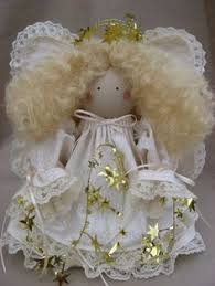 handmade wooden spool angel doll ornament wool by sewdarncute56