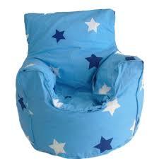 cotton blue stars bean bag arm chair with beans amazon co uk