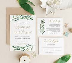 themed wedding invitations greenery themed wedding invitations from etsy the budget savvy