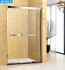 glass sliding shower doors stainless steel tempered glass sliding shower enclosure for sale