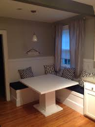 enchanting custom breakfast nook including hand crafted built in