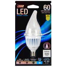 Led Light Bulbs With Candelabra Base by Feit Ctc Dm 300 Led 40w Equivalent Candelabra Base Torpedo Tip
