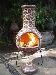 Large Terracotta Chiminea Mexican Clay Chimenea Clay Chiminea Patio Heater Fire Bowl Garden