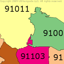 pasadena zip code map pasadena california zip code boundary map ca