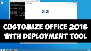 customize office 2016 installation with deployment tool youtube