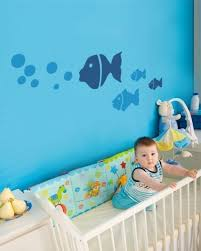 Kids Bedroom Wall Paintings Love The Fish Decals On The Wall Baby Boys Room Pinterest
