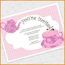 tea invitation template editable tea invitation