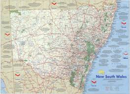 map of new south wales new south wales poster map australian geographic