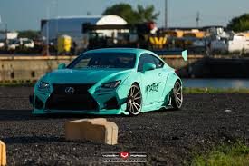 new lexus rcf for sale turquoise rocket bunny lexus rc f with vossen wheels gtspirit