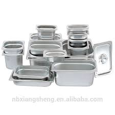 stainless steel buffet food container gastronorm pan with