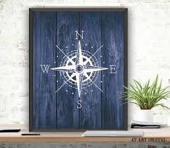 wood compass wall compass print compass pose nautical poster digital