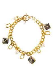 gold bracelet pendant images Gold bracelet with gold clear cube pendants design up asia jpg