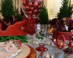 beautiful christmas banquet table decorations with rectangular