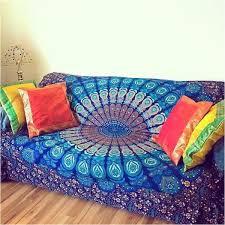 Green Throw Rug Indian Mandala Bedspread Hippie Tapestry Twin Wall Hanging Throw