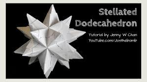 diy origami ball christmas star ball ornament stellated