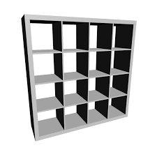 Black And White Bookcase by Furniture Black Ikea Expedit Bookcase With Sixteen Spaces