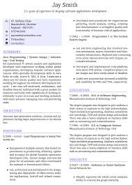 Resume Template For Latex Latex Resume Template Software Engineer Free Resume Example And