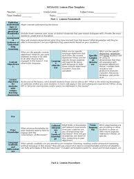 mcea esl lesson plan template lesson plan educational assessment