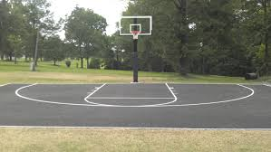 Backyard Basketball Court Awesome Backyard Basketball Court Dimensions A 4807 Homedessign Com