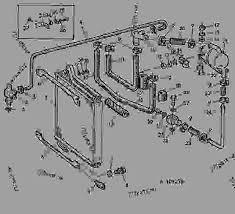 hydraulic oil cooler oil reservoir 02j16 tractor john deere