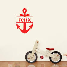 personalized boys name wall sticker cool ship anchor art pattern personalized boys name wall sticker cool ship anchor art pattern vinyl wallpaper gift kids room decor childrens removable wall stickers childrens wall