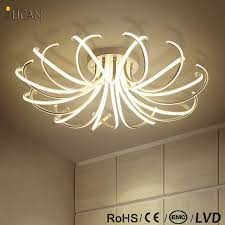 White Chandeliers Lican 2017 Ceiling Chandeliers Led Modern Flower Shape Dimming