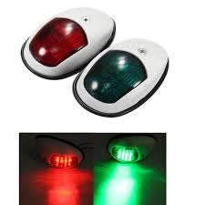 Boat Navigation Lights A Pair 12v 10w Bow Side Navigation Marine Lights Led Red And Green